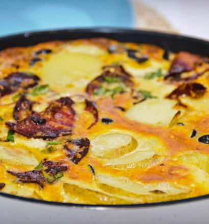 Tortilla z chorizo