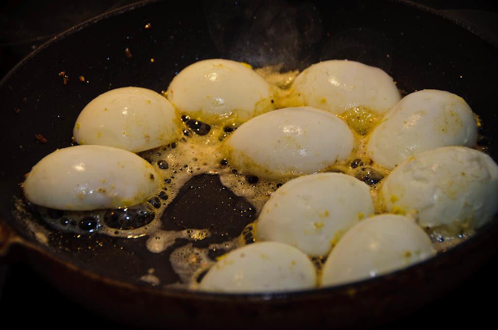 Jajka się smażą się
