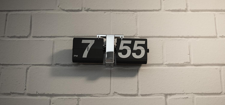 Ściana i zegar :)